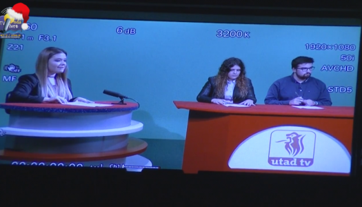 Onda Livre TV em visita à UTAD TV