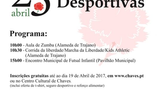 Chaves celebra o 25 de Abril com desporto