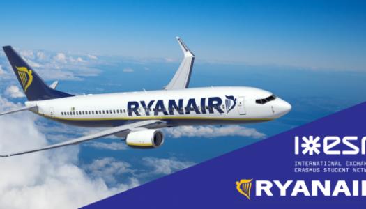 ESN e Ryanair criam benefícios de viagem para Erasmus