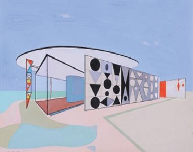 """""""Arquitetura sobre Tela"""" de Nadir Afonso"""