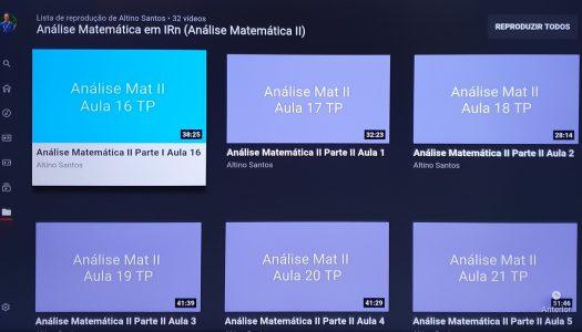 A Análise Matemática está no YouTube